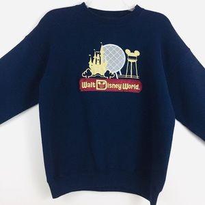 Walt Disney World Navy Embroidered Sweatshirt L/XL